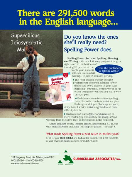 CA Spelling Power Ad