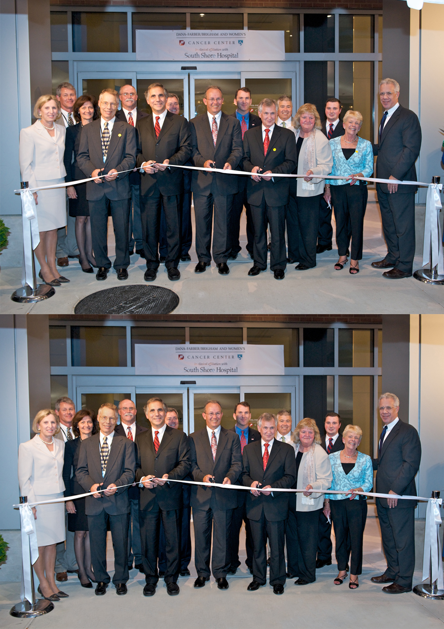 Ribbon Cutting Photo Edits