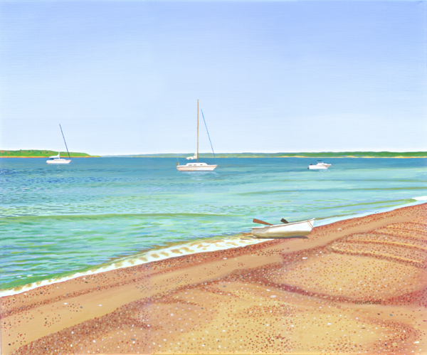 Quicks Hole Beach, acrylic on canvas