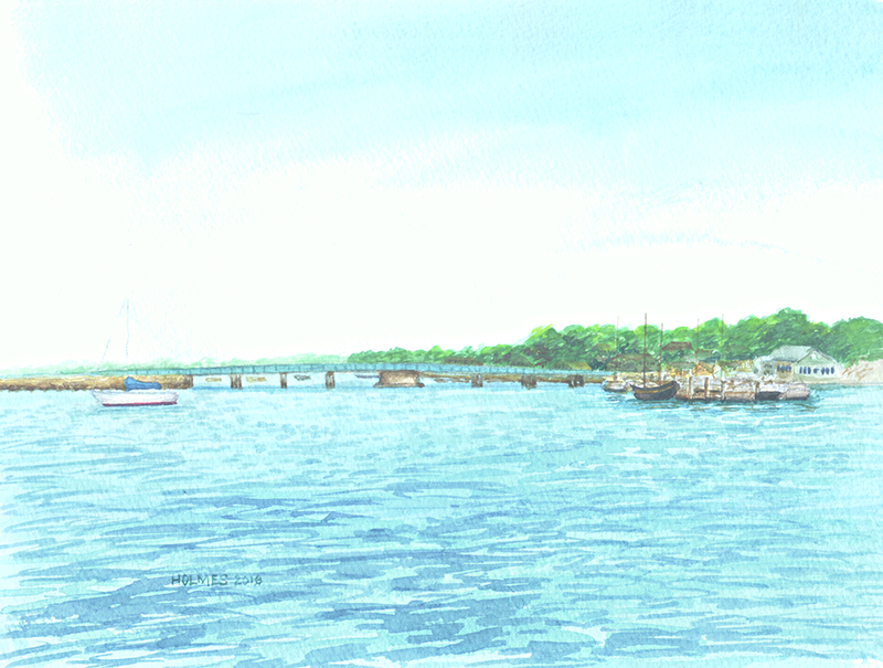 Padanaram Bridge, watercolor